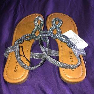 Gold toe sandals